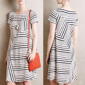 Maeve White Navy Stripestack Dress
